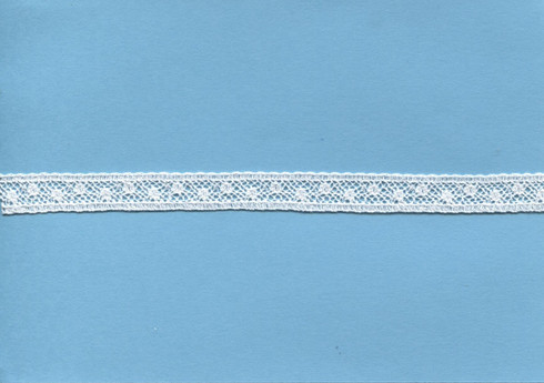 Narrow white insertion lace 1 cm wide