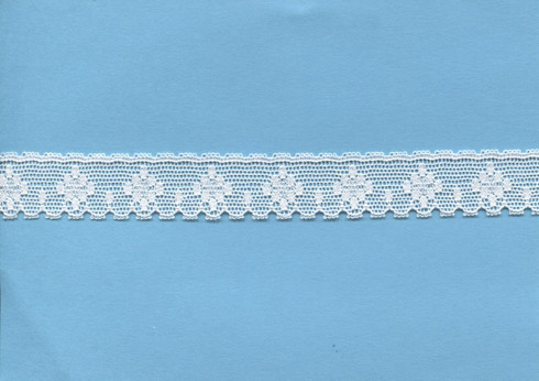 Diamond design white edging lace 1.7 cm wide (HOS 4)