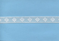 White diamond design insertion lace 1.7 cm wide (HOS 3)