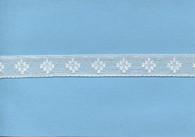 White diamond design insertion lace 1.7 cm wide (HOS 3)