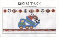 Sports Truck smocking plate by Frances Messina Jones