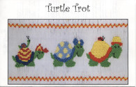 Turtle Trot smocking plate by Frances Messina Jones