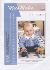 Max boy's smocked shirt and pants pattern by Meco Modes