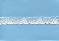 Flower and spot design edging lace in white 2.2 cm wide