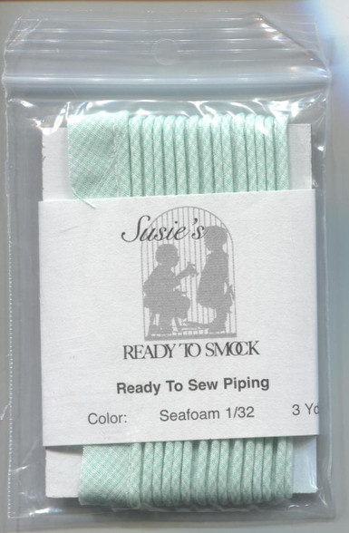 Susie's Ready to Sew Gingham piping in Seafoam