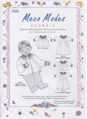 Clare 3 Smocked Baby Jacket & Daygown pattern by Meco Modes