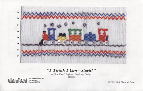 Smocking Plate I Think I Can - Stack by Ellen McCarn