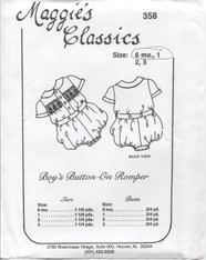 Smocked Button Fronted Shirt and Pants by Maggie's Classics Size 6month & 1 year