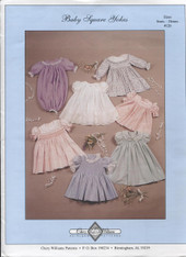Baby Square Yoke Smocked Dress Pattern by Chery Williams