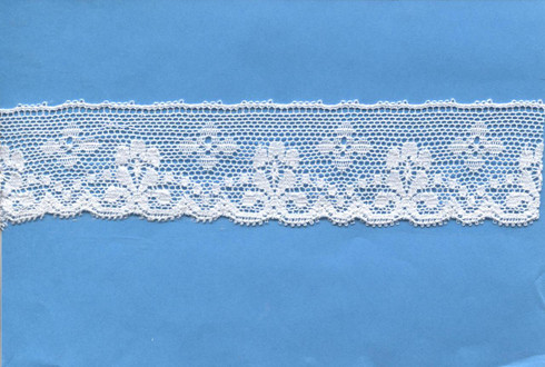 Flower & Spot design edging lace 3.2 cm wide