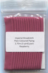 Ready to Sew Piping in Raspberry 2.75 m (3 yard) Pack - colour match Anchor 77