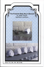 Preemie Baby Boy's Smocked Bonnet pattern by Judith Marquis
