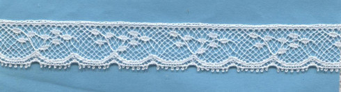 White French Edging Lace 1.5 cm wide (limited availability)