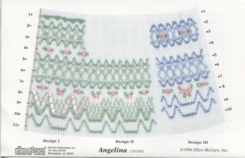 Smocking design plate - Angelina by Ellen McCarn