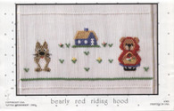 Smocking Plate Bearly Red Riding Hood by Little Memories