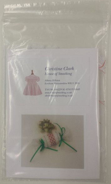 White Smocked Mini Cracker Kit