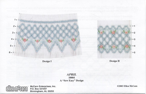 April Smocking Plate by Ellen McCarn