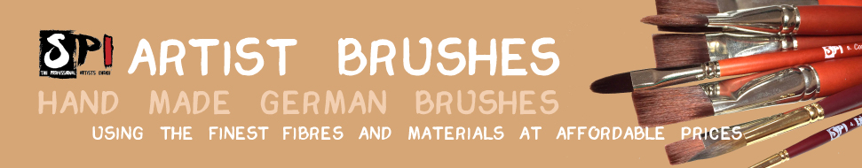 SPI Artist Brushes - Handmade German Brushes using the finest fibres and materials at affordable prices.