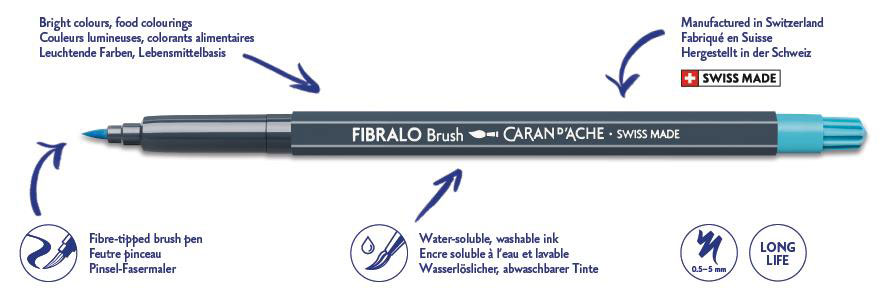 Fibralo Brush Fibre Tipped Pen