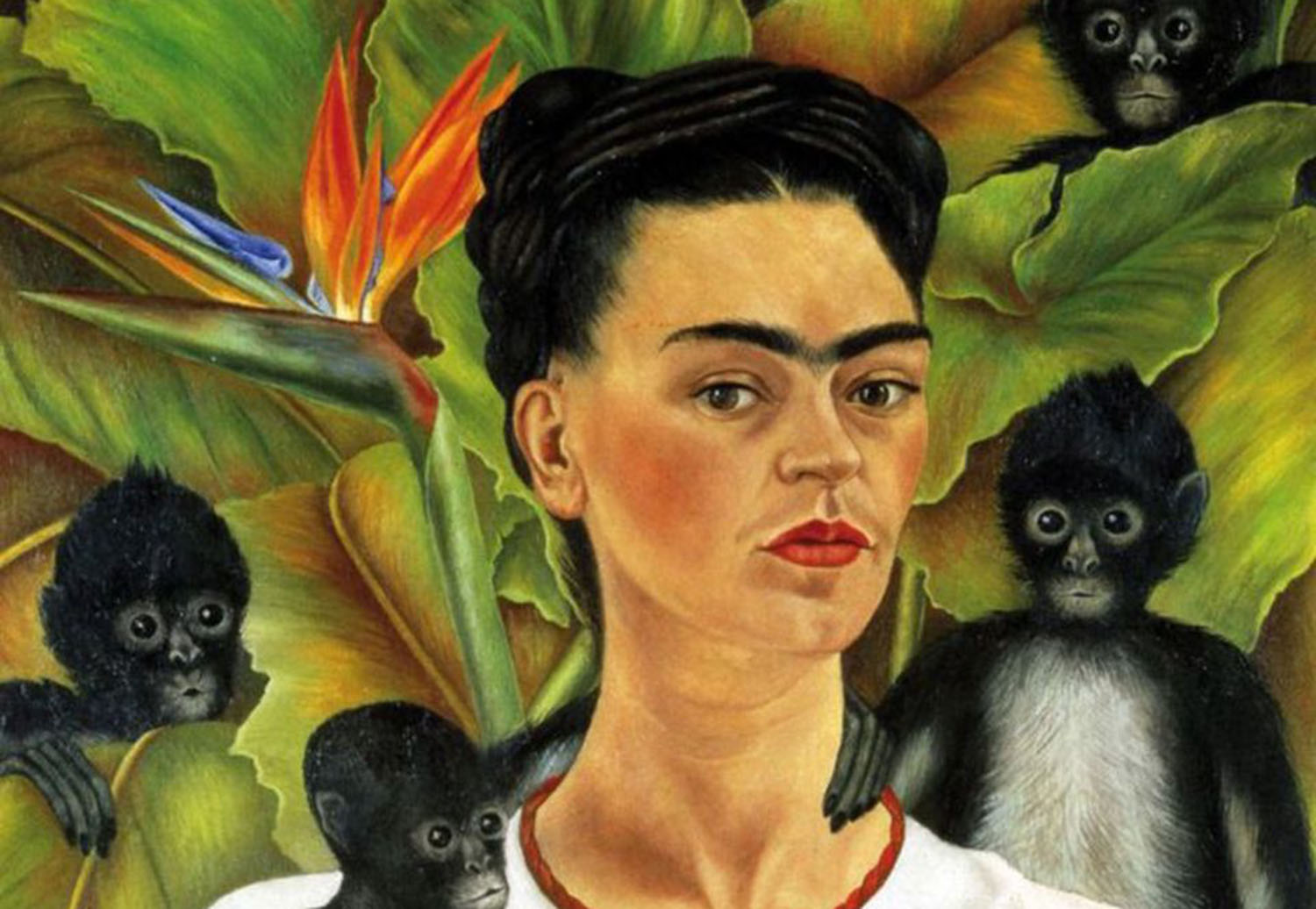 Self-portrait with Monkeys, Frida Kahlo 1943