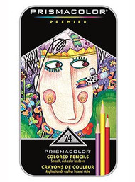 Prismacolor Premier Soft Core Colored Pencils 24 Set