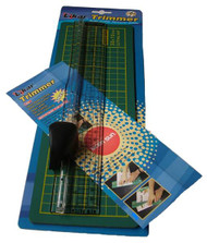 Ruler & Cutter plus Cutting Mat (35cm Mat)