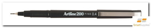Artline 200 Fineliner Black Pen 0.4