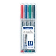 Staedtler Lumocolor Non Permanent Fine - Box of 4 Colours (0.6mm)