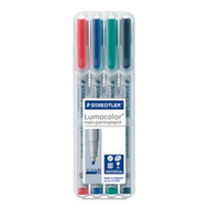 Staedtler Lumocolor Non Permanent Broad - Box of 4 Colours (2.5mm)