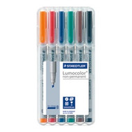 Staedtler Lumocolor Non Permanent Broad - Box of 6 Colour (2.5mm)