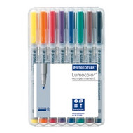 Staedtler Lumocolor Non Permanent Broad - Box of 8 Colour (2.5mm)