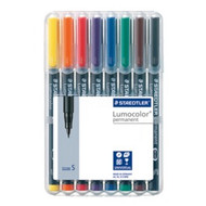 Staedtler Lumocolor Permanent Superfine - Box of 8 Colour (0.4mm)