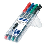 Staedtler Lumocolor Permanent Fine - Box of 4 Colours (0.6mm)
