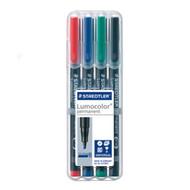 Staedtler Lumocolor Permanent Broad - Box of 4 Colours (2.5mm)