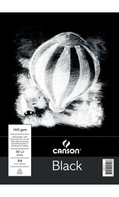 Canson 140GSM Black Pad - A4
