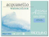 Fabriano Watercolour 200GSM Cold Pressed Block - 23 x 30.5cm