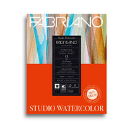 Fabriano Studio Watercolour 300GSM Pad Hot Pressed (Smooth) 12 Sheets - 20.3cm x 25.4cm