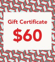 $60 Gift Vouchers
