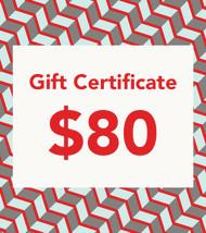 $80 Gift Vouchers