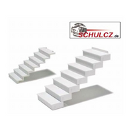 White Polystyrene Straight Stairs 35¡ - 1:25 (w=40mm)