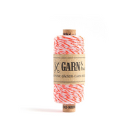 Garn & Mehr Baker's Twine - Neon Orange/White