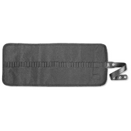Roll-Up Pencil Case with Snap Fastener - Black (Open)