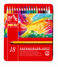 Supracolor Soft Aquarelle Pencil Assort. 18 Box Metal   |  3888.318