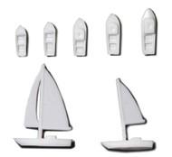 White Polystyrene Sailboats - 10 Units
