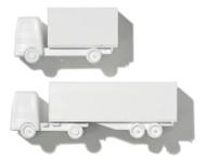 Polystyrene Lorry White - 1:200