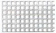Aluminium Fine Perforated Plate - sq.-holed, sq. pitch (QG 2.0/3.0) 0.5mm x 250mm x 400mm