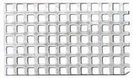 Aluminium Fine Perforated Plate - sq.-holed, sq. pitch (QG 2.0/3.0) 0.5mm x 250mm x 400mm