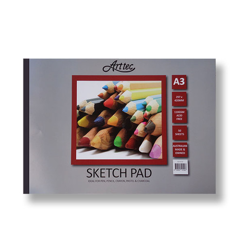 Arttec Cartridge Sketch Pad 110GSM 50 Sheets - A3