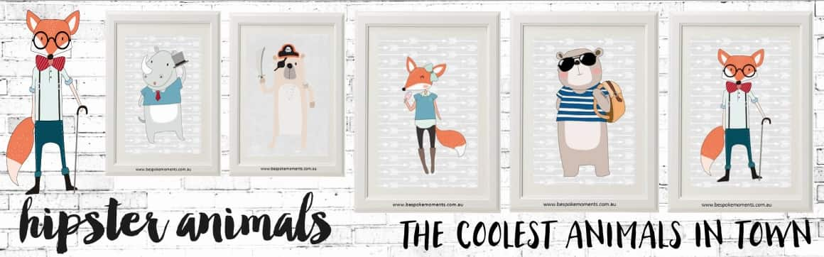 Hipster Coolest Animals Prints Australia