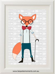 Hipster Fox Print